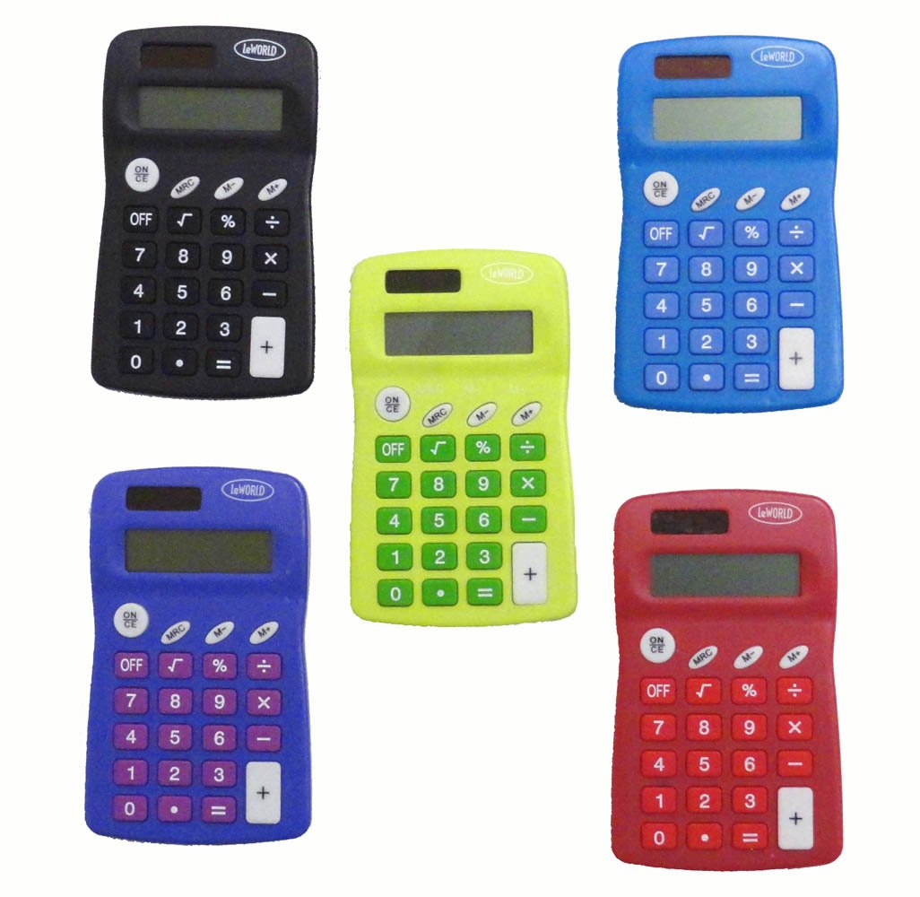 com solar pocket calculator package of 12 electronics