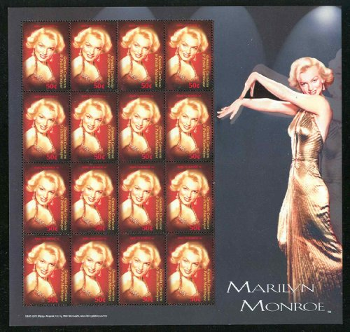 Marilyn Monroe Collectible Postage Stamps Grenada 2530