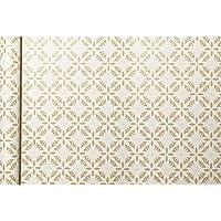 Clairefontaine Kraft Sarma Kağıdı, 5 x 0,35 m - Beyaz Çiçekler