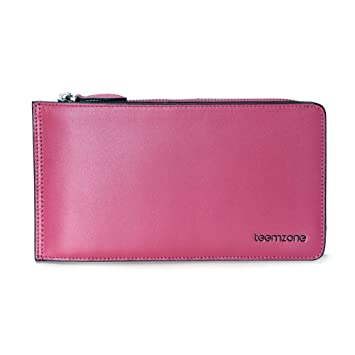 b02b9e99a Teemzone Cartera Tarjetero de Mujer Piel Monedero Billetera Cremallera de  Color Caramelo (Rosa): Amazon.es: Equipaje