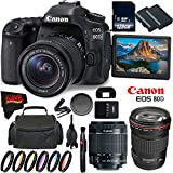 Canon EOS 80D DSLR Camera + 18-55mm Lens + Canon EF 135mm f/2L USM Lens + 128GB Memory Card International Version