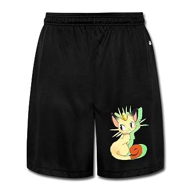 Pokèmon Meowth de Hombre Pantalón joggersleisure Casual: Amazon.es ...