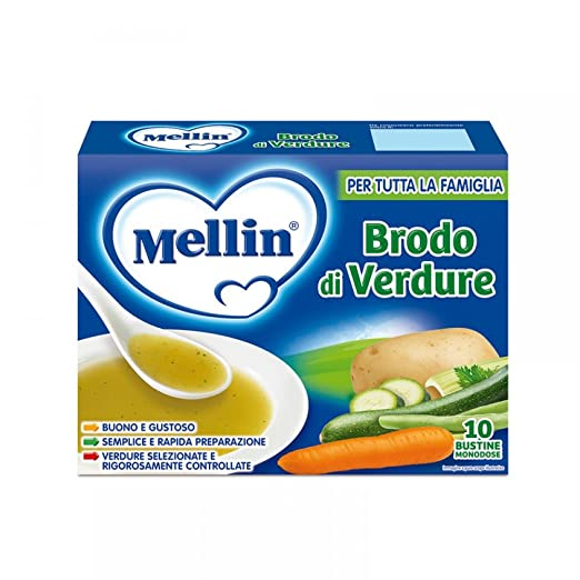 3 opinioni per Mellin Brodo Verdure, 10 Bustine- 8 gr