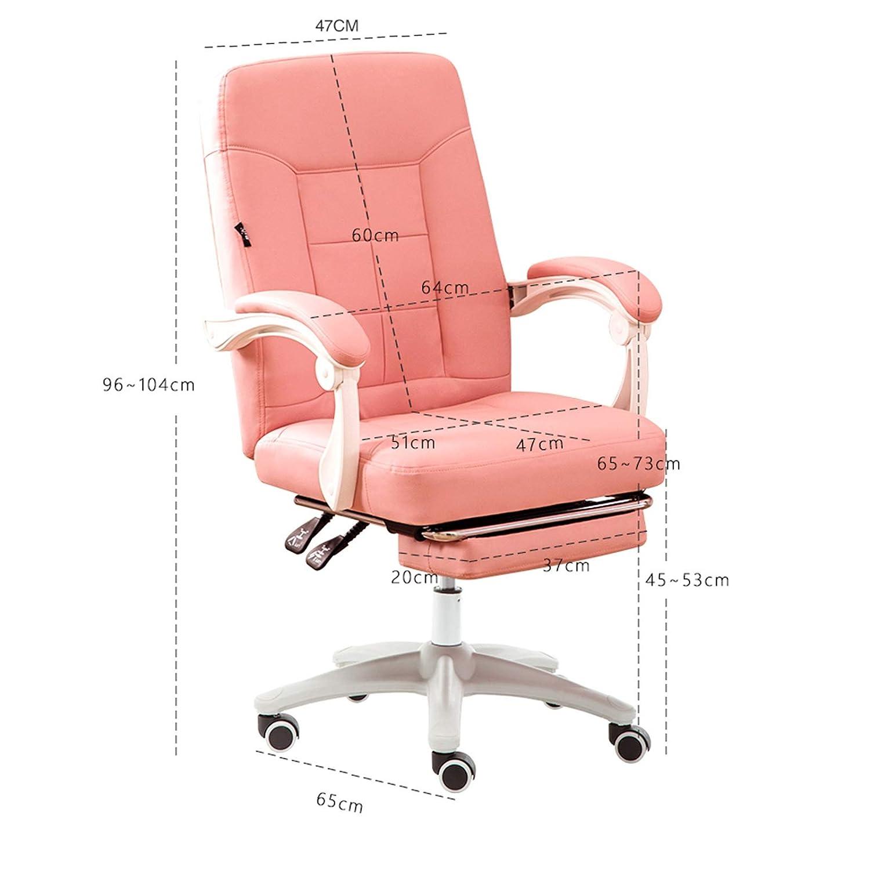 YYL kontorsstol PU kontorsstol, mellanrygg datorbord svängbar stol, ergonomisk verkställande uppgift stol med armstöd svängbar stol (färg: Stil5) style4