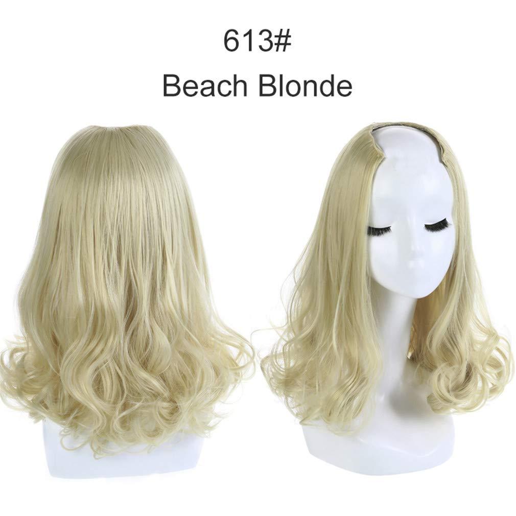Amazon.com : 16\' Short Curl Blonde Half
