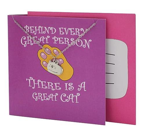 Amazon Quan Jewelry Cat Pendant Necklace For Women Funny