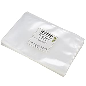 "Vacuum Sealer Bags 100 Quart Size 8""x12"". KitchenBoss Commercial Grade for Food Vacuum Storage Bags for Food Saver and Sous Vide"