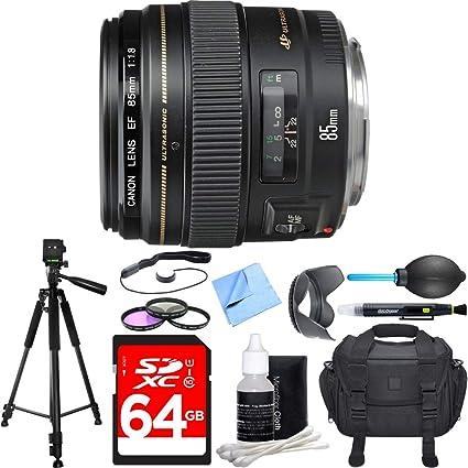 Amazon.com: Canon EF 85 mm f/1.8 USM Lente Teleobjetivo ...