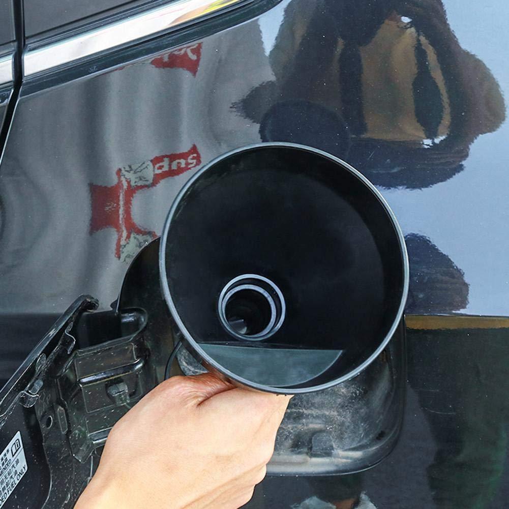 Kfz Trichter mit Schlauch /Ölwechsel entnehmbares Sieb delibett Einf/ülltrichter Set schwarz Trichtersatz PP