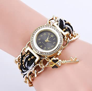 SW Watches Relojes De Pulsera Para Niña Con Diamond Face Y ...