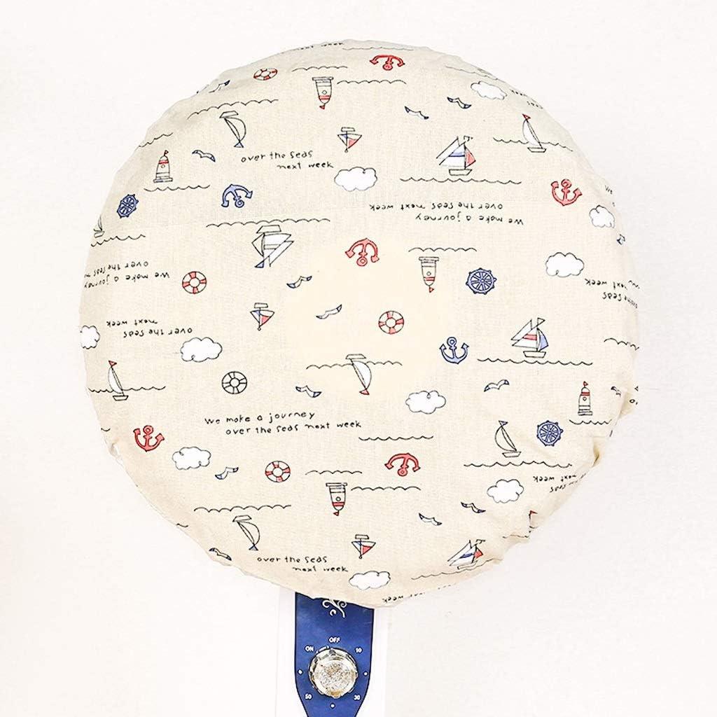 Color : Baiyun small Sailboat staubdicht leicht zu reinigen YHWLKK Standing Round Fan Staubschutzabdeckung Ventilator Kid Finger-Schutz-Fan-Staubschutz for Standventilator for Pedestal Fan