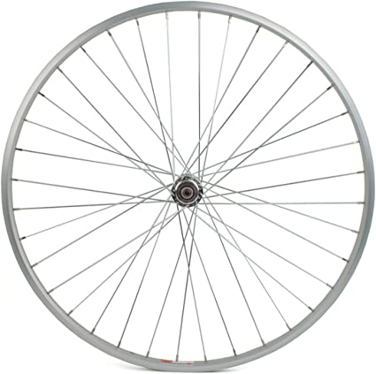 Silver Alloy Rim Bolt-on Axle 36 Spokes Includes Sta-Tru Front Wheel 26 x 1
