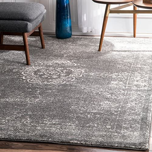 nuLOOM Tanja Overdyed Medallion Area Rug