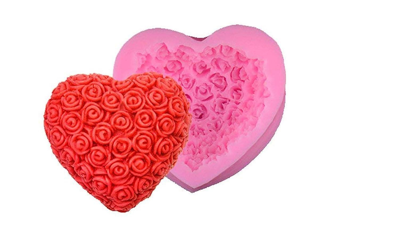 3d Cœur Amour Silicone Fondant Moules à gâteaux Savon Moules à chocolat Greenpromise