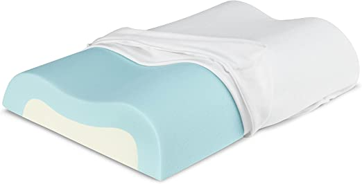 Amazon Com Sleep Innovations Cooling Contour Memory Foam Pillow