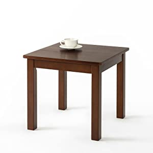 Zinus Damion Espresso Wood Side Table