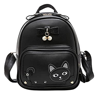 Mini Cute Cat Casual Backpacks with Sequins Bowknot Daypack for Girls  e53ca1b06ff80