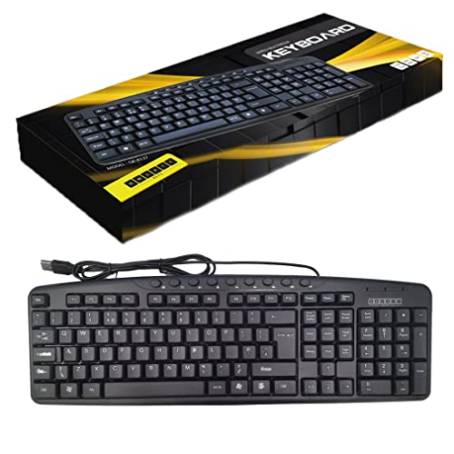 standard usb keyboard with uk layout black computers accessories. Black Bedroom Furniture Sets. Home Design Ideas