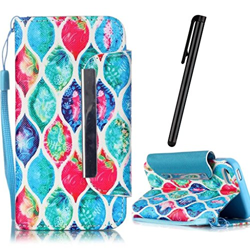 - iPhone 6 Plus Case,6S Plus Case,New Full Protection Magnetic Flip folding Stand Leather Wallet Case TPU Internal Cover for iPhone 6 Plus 6S Plus 5.5-inch Flower color