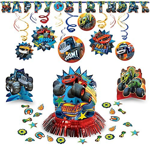 Amscan Blaze and The Monster Machine Classic Hanging Birthday Party Pack Decoration Kit AMZKIT752 ()