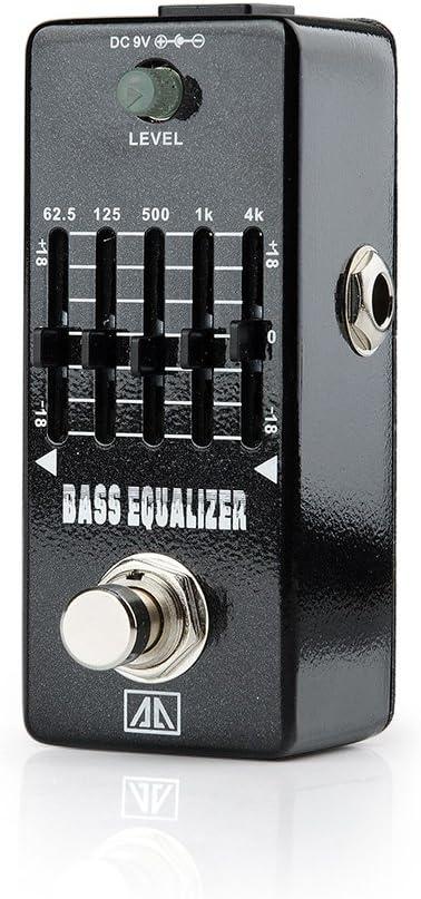 AA aeb de 5 Ecualizador de bajos Mini Efectos de Guitarra Pedal de Efectos Sonómetro regulación para guitarra bass – Ligh twish: Amazon.es: Instrumentos musicales