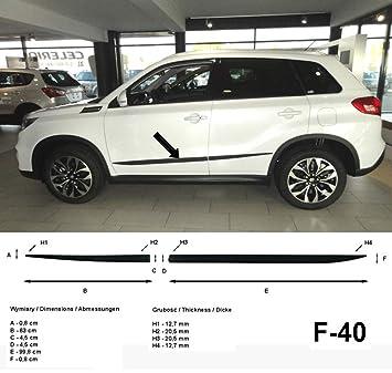 Spangenberg 370004005 - Listones de protección Lateral para Suzuki Vitara SUV LY (Modelos a Partir de febrero de 2015), Color Negro: Amazon.es: Coche y moto