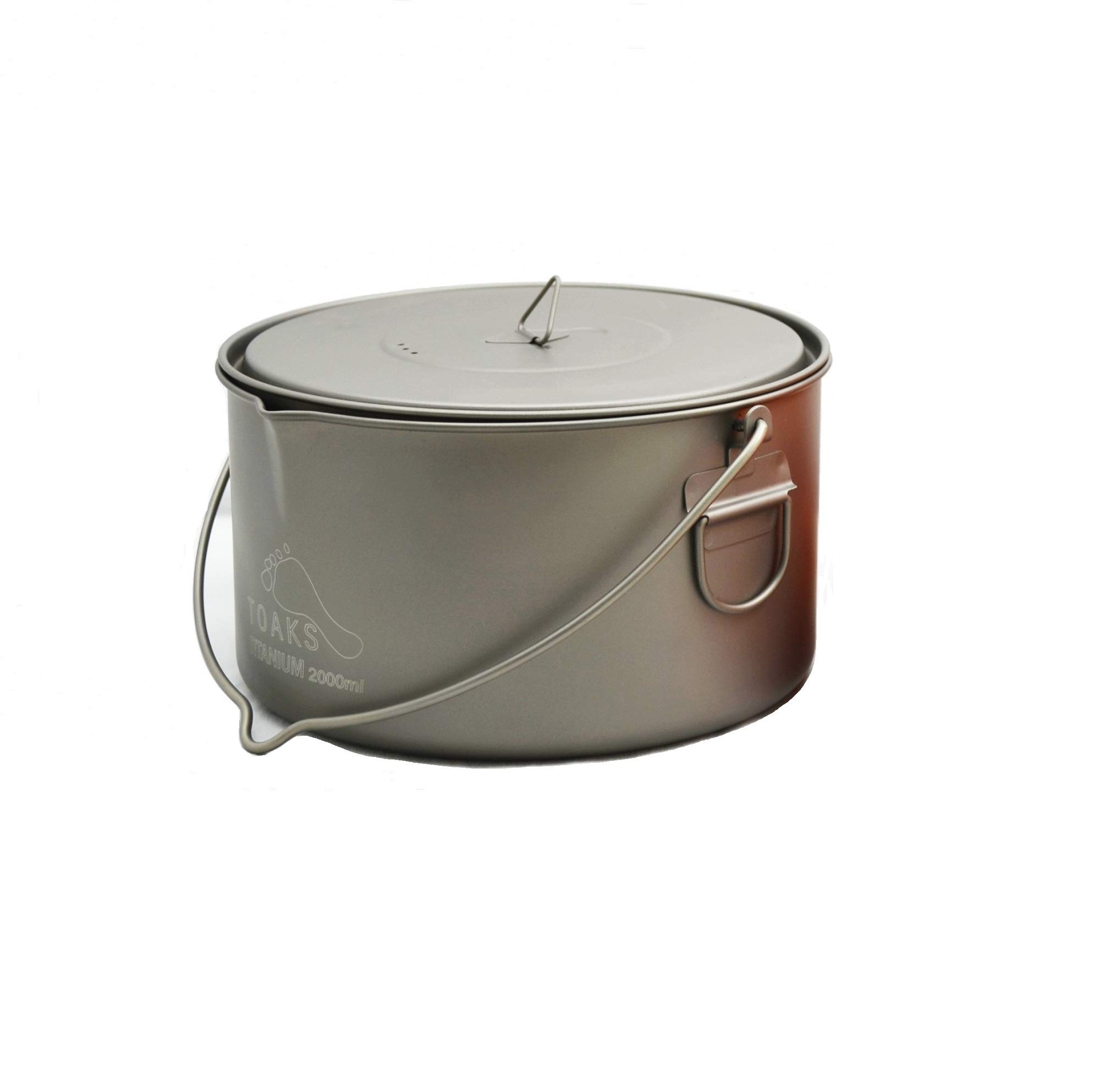 TOAKS Titanium 2000ml Pot with Bail Handle by TOAKS
