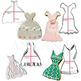 Anyana 4pcs/set Metal Stainless Steel Wedding Woman Dress Cookie Cutters Fondant Biscuits Cutters Tools Decorations