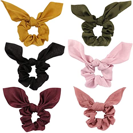 Pink White Hair Bow Hairband Bobbles Headband Clip Ponytail Tie Band Stripes