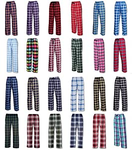 Ultra Soft Unisex Youth 100% Cotton Flannel Pants - Unisex Sizing