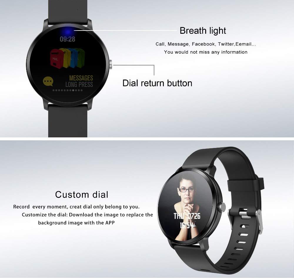 Amazon.com: V11 Smart Watch IP67 Waterproof Tempered Glass ...