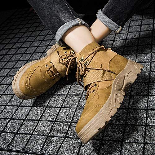 LOVDRAM Stiefel Männer Herbst Und Winter Beiläufige Männer Schuhe Dicke Warme Mode Martin Stiefel Mode Hohe Hilfe Werkzeug Stiefel Baumwolle Schuhe