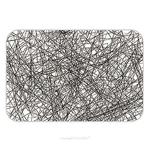 Franela de microfibra antideslizante suela de goma suave absorbente Felpudo alfombra alfombra alfombra Grunge Scribble superposición textura EPS vector ilustración 283359368para interior/exterior/cuarto de baño/cocina/Estaciones de trabajo