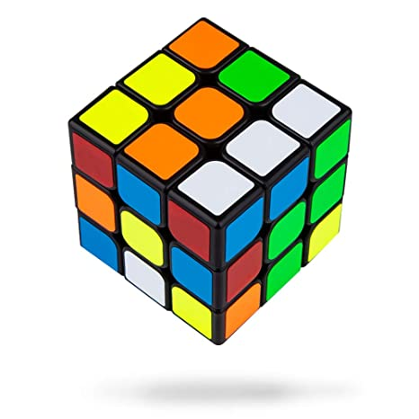 Buself Cubo Rompecabezas 3x3x3 56mm Cubo Rompecabezas Speedcube Speed Cube con Bordes de Color Negro