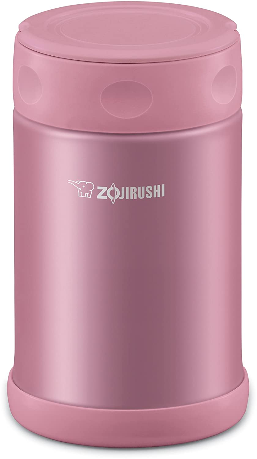 Zojirushi SW-EAE50PS Stainless Steel Food Jar 16.9 -Ounce/0.5-Liter Shiny Pink