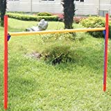 GHP Pet Supply Lightweight Durable PVC Plastic ADjustable Agility Jumping Bar