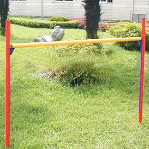 GHP Pet Supply Lightweight Durable PVC Plastic ADjustable Agility Jumping Bar by Globe House Products