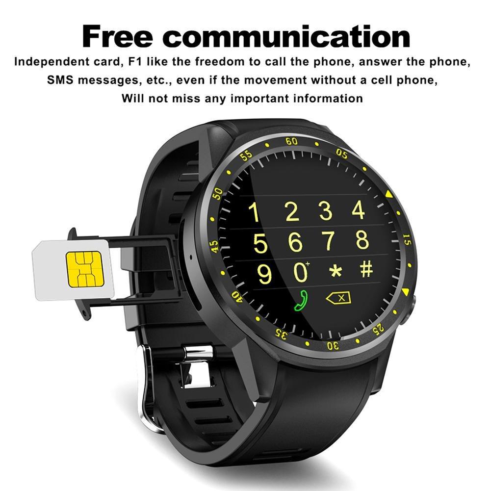 Reloj inteligente digital, F1 4.0 GPS deportivo Bluetooth de alta definición Ips Pantalla táctil MT2503 Chip Smart GPS reloj deportivo teléfono para iOS ...