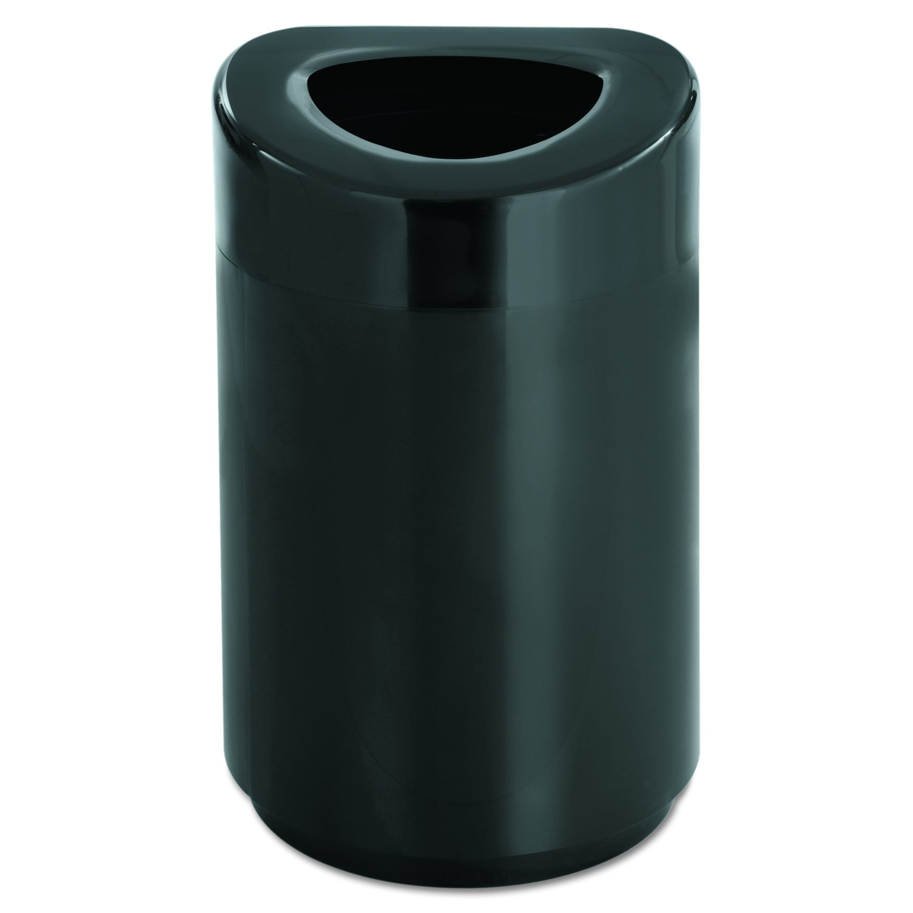 Safco Products 9920BL Open Top Trash Can, 30-Gallon, Black