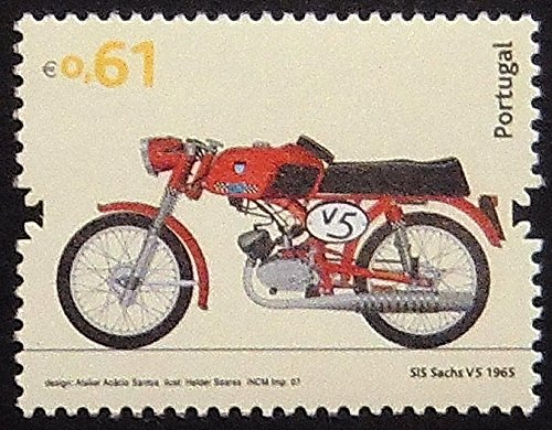 SIS Sachs V5 1965 Motorcycles -Handmade Framed Postage, used for sale  Delivered anywhere in Canada