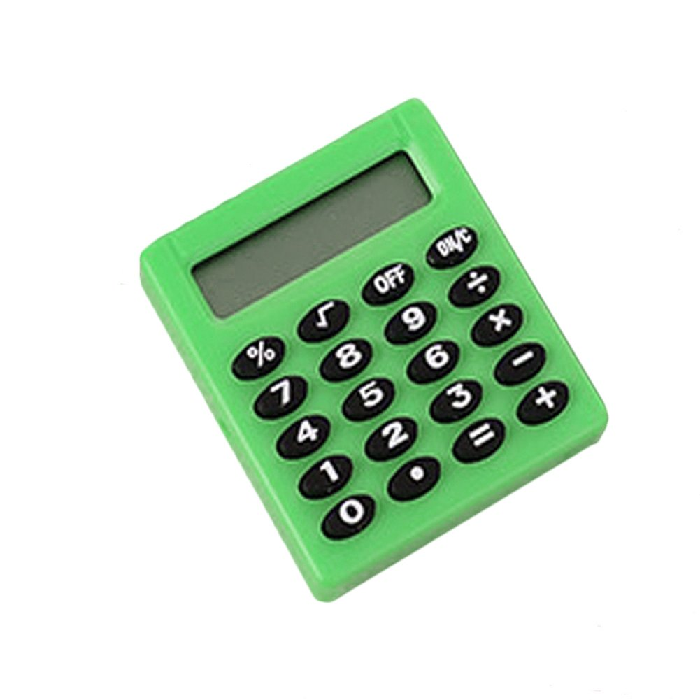 Gyswshh Mini Portable Pocket Calculator,8 Digits Electronic Student School Supplies Green