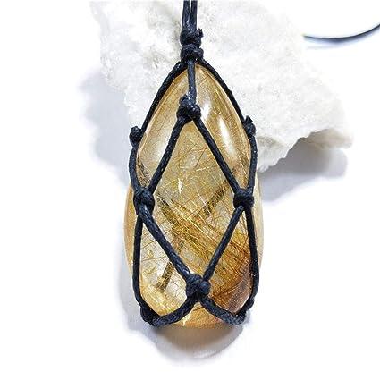 Collar Piedra Natural Colgante Envoltura Trenza Collar Yoga ...