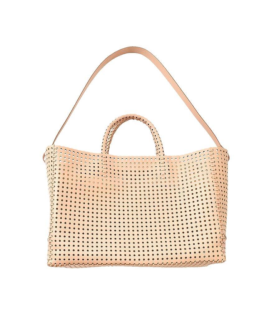 (イロセ) irose パンチングカウレザーカゴトートバッグ KAGO  bag-k01 B07CPFXQDY ヌード One Size