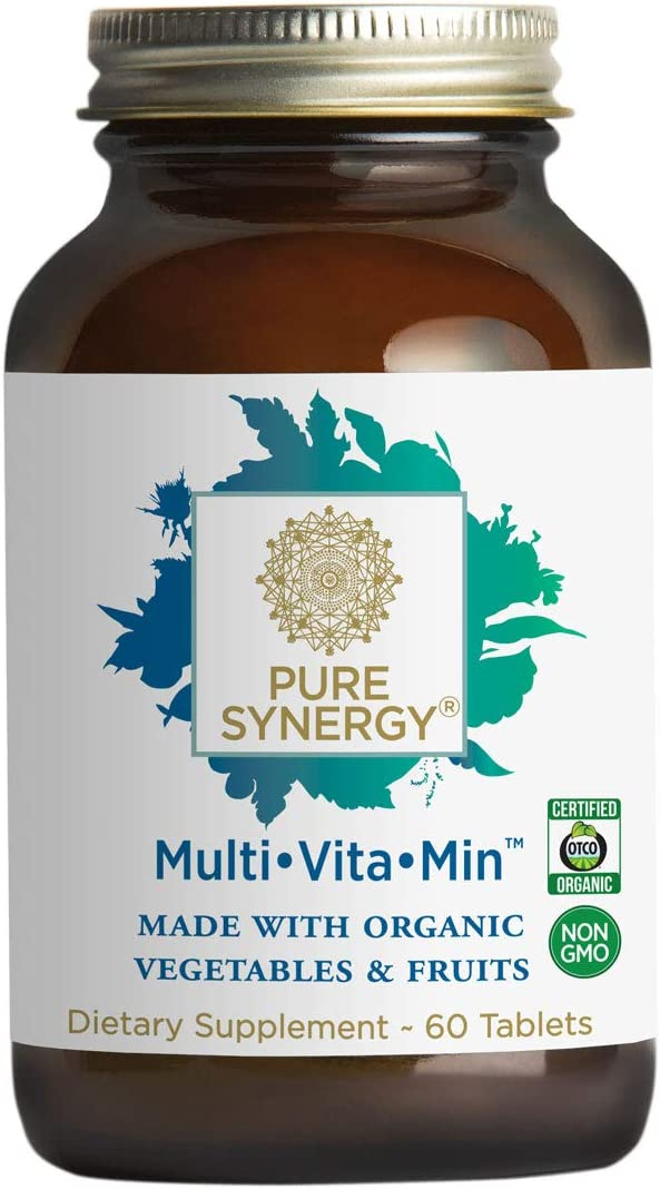Pure Synergy Multi Vitamin 60 Tablets 2 A Day Multivitamin Made w Organic Fruits Veggies