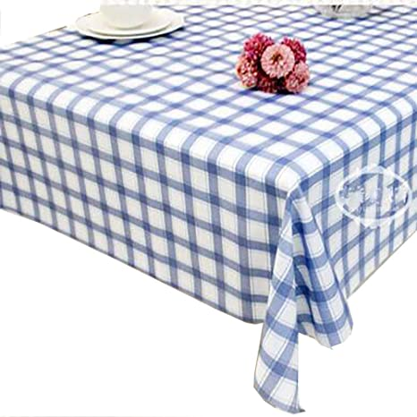 qwert Oblongo Mantel, Mantel Impermeable Celosía Azul PVC A Prueba De Polvo Anti-fouling Familia Jardín Mantel De Picnic-Azul 137x210cm(54x83inch): Amazon.es: Hogar