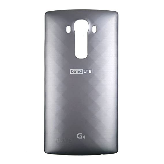 89c2bc60cf7 Amazon.com: LG Leather Replacement Battery Rear Back Door Cover Case For LG  G4, H815, H811, H810, VS986, VS999, US991, F500, LS991 - Metallic Gray ...