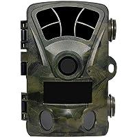 Sweet Alice Wildkamera 16MP 1080P, Jagdkamera 120°Breite Vision Infrarote 20m Nachtsicht IP56 Wasserdicht mit 0,2 Sekunden Triggerzeit 2,4 Zoll Display Wildkamera mit Bewegungsmelder