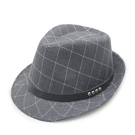 Sombrero De Sol para Hombre Estilo Británico Sombrero De Poliéster Algodón  Jazz A Especial Estilo Cuadros Protección Solar Sombrero De Gorra Al Aire  Libre ... 4f704bd21f2