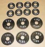 TDS OLYMPIC PLATE PACKAGE 6-5lb + 8-1.25lb (Total 40 lbs)