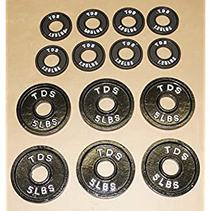 TDS OLYMPIC PLATE PACKAGE 6 5lb + 8 1.25lb (Total 40 lbs)
